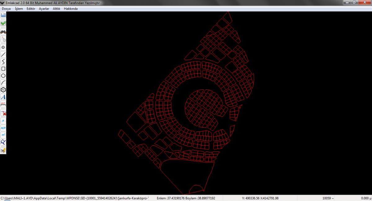 Emlakcad , en HIZLI harita CAD programı !